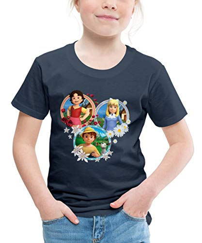 Heidi Freundschaft Peter Clara Kachel Freunde Kinder Premium T-Shirt, 122-128, Navy