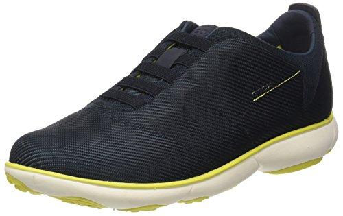 Geox Jungen J Bernie C Sneaker, Grau (Dk Grey/Black), 36 EU