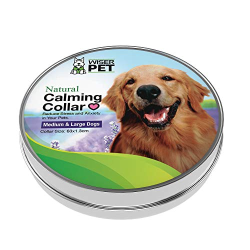 Wiser Pet Beruhigendes Halsband für Hunde, entspannt und beruhigt nervöse oder ängstliche Haustiere, reduziert Stress und Trennungsangst mit natürlichen, ätherischen Ölen
