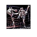 ZHENGDONG Poster, Motiv: Kickboxen, voller Kontakt,