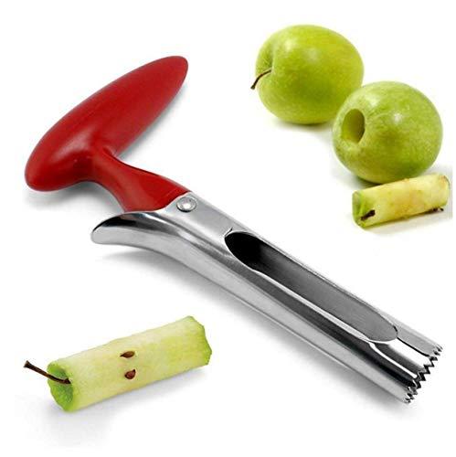 Gamloious Mein Apfelentkerner Meines professioneller Edelstahl-Ananas-Birne De-Ausstecher Seed-Entferner, bequemer Rutschfester Griff, Anti-Rust und Heavy Duty-Küche-Werkzeug, 1 PC-rot