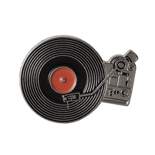 BLUESTEER Broschrup, Musik, Musik, Musik, Video, Vinyl-Plattenspieler-Abzeichen, billiges Hemd, Cooles Schmuck Geschenk