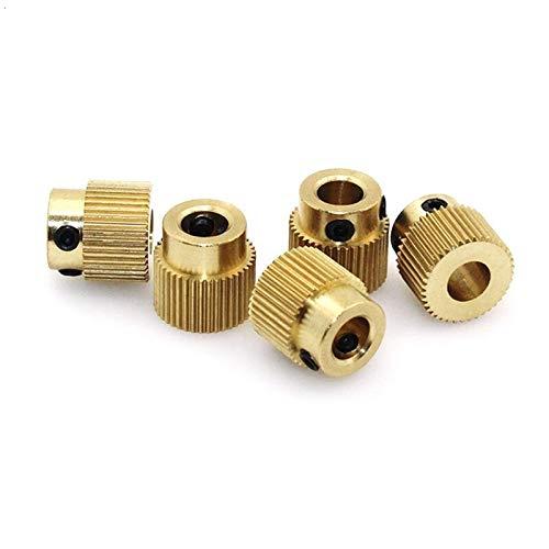 YAYANG Printer Accessories Stampante 3D Estrusione Wheel Ottone Gear Wheel 40 Denti ingranaggio for Creality Stampante 3D estrusore Filament Tool Parts