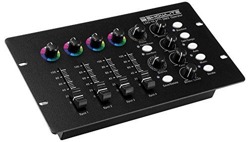 Showlite LDO-10 LED DMX Operator (DMX Controller, Lichtsteuerung, 6 DMX Modi, 12 automatisch oder musikgesteuerte Programme)