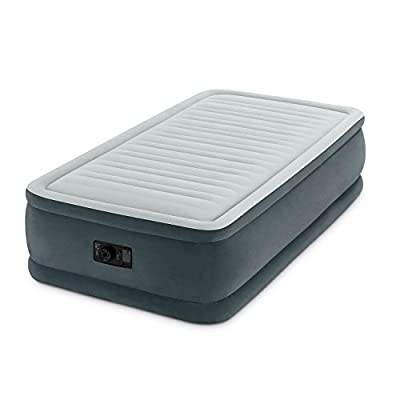 "Intex Comfort Plush Elevated Dura-Beam Airbed with Built-In Electric Pump, Bed Height 18"", Twin"