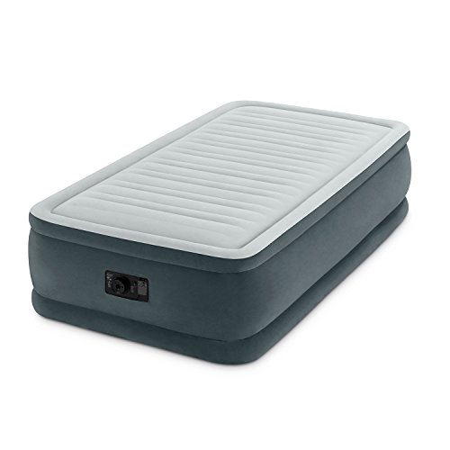 Intex Comfort Plush Elevated Dura-Beam Airbed with Built-In Electric Pump, Bed Height 18', Twin