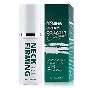 Neck Firming Cream - Anti Wrinkle Cream - Double Chin Reducer - Retinol & Collagen Skin Tightening Cream - Anti-Aging Moisturizer for Neck & Face - Saggy Neck TIghtener 3.5 OZ/100ML  Green+White