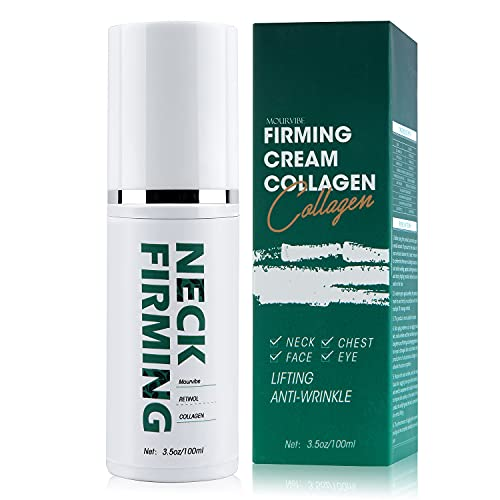 Neck Firming Cream - Anti Wrinkle Cream - Double Chin Reducer - Retinol & Collagen Skin Tightening Cream - Anti-Aging Moisturizer for Neck & Face - Saggy Neck TIghtener, 3.5 OZ/100ML (Green+White)