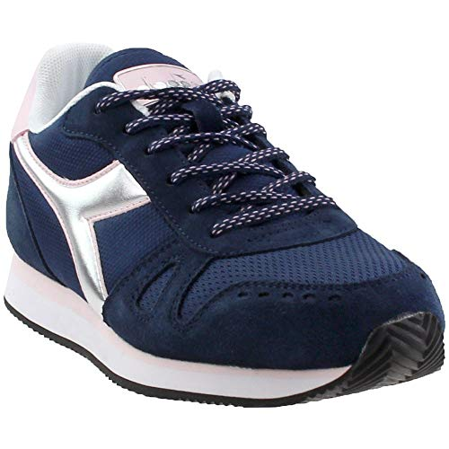 Diadora Womens Simple Run Casual Sneakers, Blue, 8.5