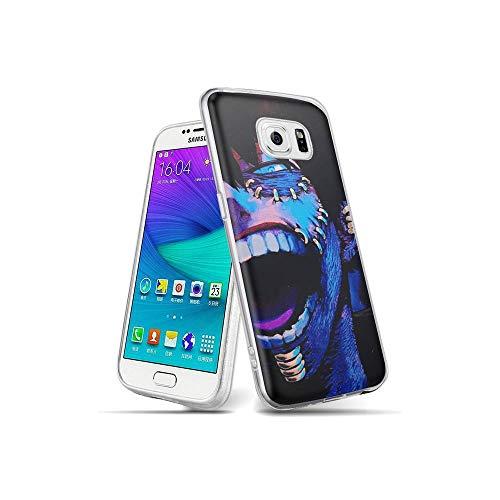 CBiBaMEi Samsung Galaxy S6 Edge Funda, teléfonos móviles Carcasa Transparente Suave Silicona TPU Gel Ultra Fina Protección Funda para Samsung Galaxy S6 Edge #D010