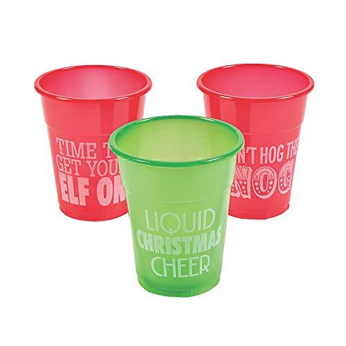 50pc Christmas Plastic Drinking Cups 12oz