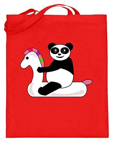Pool Party - Einhorn, Horn, Unicorn, Panda, Kung Fu, Pferde, Ponys, Feiern, Feste, Partys - Jutebeutel (mit langen Henkeln)