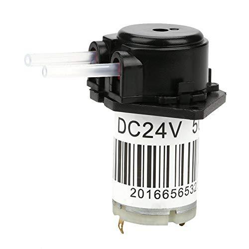 Peristaltikpumpe DC 24V Selbstansaugende Dosierpumpe Mini Snap In Typ Wasserpumpe mit Anschluss für Aquarium Lab Analytic