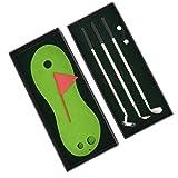 keenso mini set di penne da golf, con penne per mazze da golf, bandierine, regali di novità per il golf, mini scatola da gioco da scrivania, regalo perfetto per golfista, 3 penne a sfera da golf