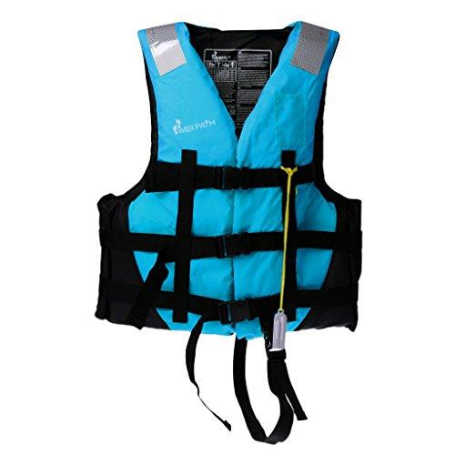 perfeclan Kayak Canoa Barco Natación Chaleco Chaleco de Ayuda a La Flotabilidad - Azul, M