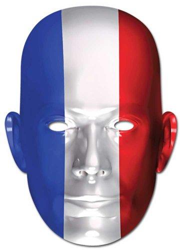 Drapeau français-Empire Masque en Carton de Elizabeth II avec Trous pour Les Yeux et élastique 30 x 21 cm