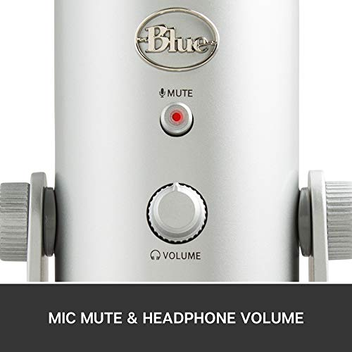 Blue Yeti USB Mic for Recording & Streaming on PC and Mac, 3 Condenser...