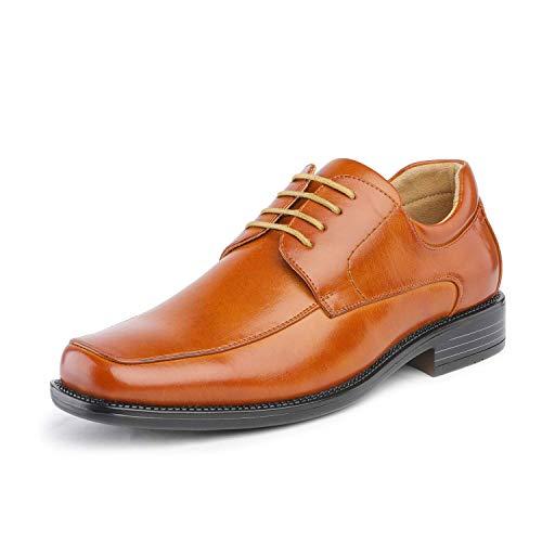 Bruno Marc Goldman-01 Zapatos de Cordones Vestir Negocios Clásicos para Hombre Marrón 42 EU/9 US