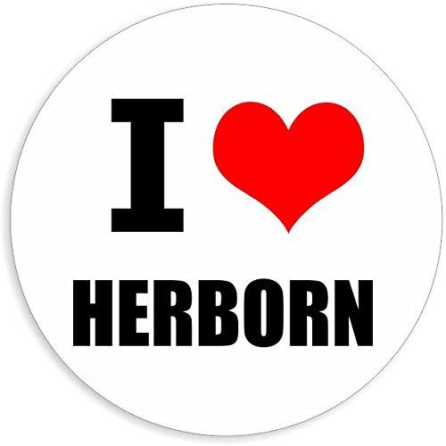 I love Herborn in 2 Größen erhältlich Aufkleber mehrfarbig Sticker Decal