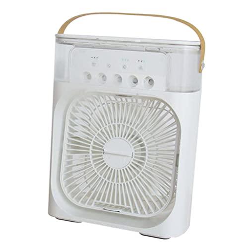 Amuzocity Ventilatore Portatile per Condizionatore d'Aria Ventilatore per Scrivania Personale di Raffreddamento dell'Aria - Bianca