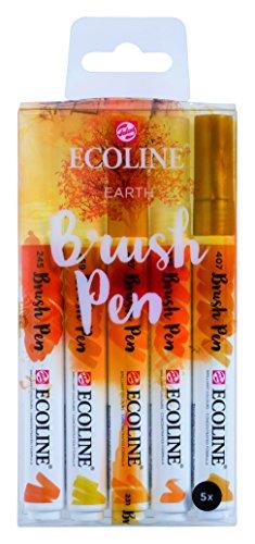 "Talens Ecoline 5 brush pens ""Earth"""