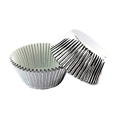 Warmparty Foil Baking Cups Cupcake Liners, Standard Sized, 200 Count (Sliver)