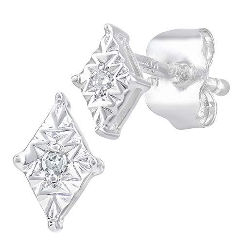 Naava Women White Diamond Stud Earrings PE05768W