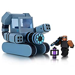 Go out for a spin with this exhilarating vehicle set, featuring two unique characters, a vehicle, and accessories Mix and match parts to build your own unique Roblox character Deck out your figures with the included accessories Each package comes wit...