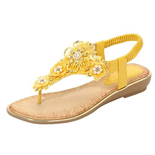 Sylar 2021 Zapatos de Plataforma Mujer Sandalias Planas Playa Zapatillas Sandalias de Punta Abierta Casual Fiesta Roman Tacones Altos Sandalias
