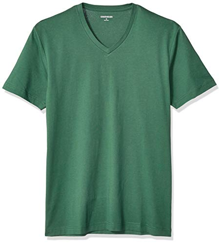 """Amazon Brand - Goodthreads Men's Slim-Fit """"The Perfect V-Neck T-Shirt"""" Short-Sleeve Cotton, Green X-Large"""