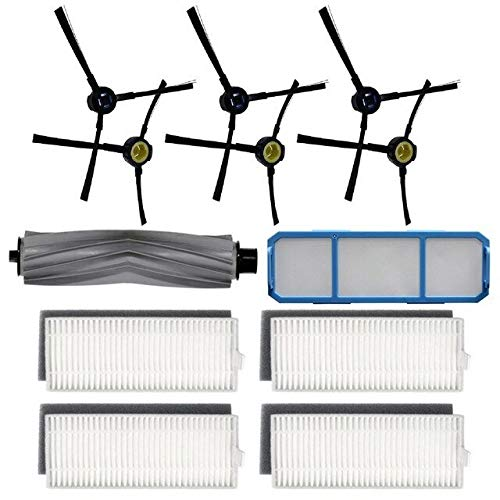 Accesorios para aspiradoras Filtro Cepillo lateral Cepillo Rodillo Compatible con SILVERCREST SSR1 Robot Aspirador Aspirador Absoluto Reemplazo Ajuste Piezas de electrodomésticos Filtros ( Color : B )