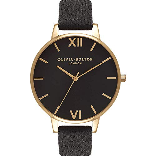 Olivia Burton Damen Analog Quarz Armbanduhr mit Lederarmband OB15BD55