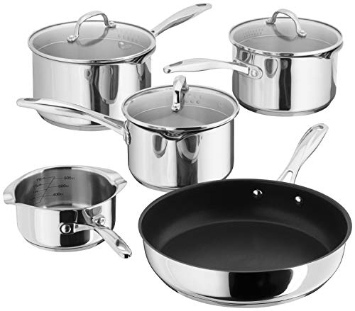 Stellar 7000 S7C1D 5-Piece Set of Stainless Steel Pans 16cm, 18cm & 20cm...