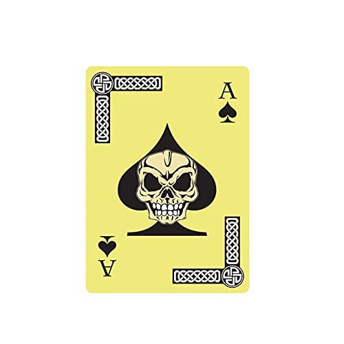 YLZH Etiqueta engomada del coche del color 10.2CM* 14CM Personalidad Funny Poker Skull Window Car Sticker PVCCCCCCCCCCÓRNEA 6-0033 Etiqueta engomada del logotipo