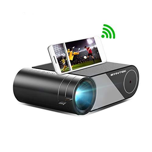 Aibecy SKY K9 Proyector portátil multipantalla 1080P Compatible con 250 ANSI lúmenes LED claro Proyector de cine en casa WiFi Pantalla inalámbrica Compatible Smartphone PC PC portátil PS4 TV Box