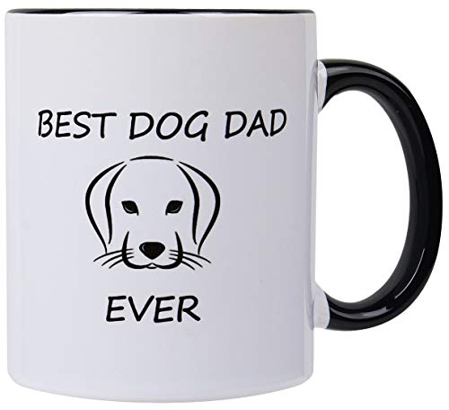 Funny Mugs-Best Dog Dad ever-11 OZ Coffee Cup,Dog Lover Gifts for Men Him,Pet Gifts for Dogs Owners