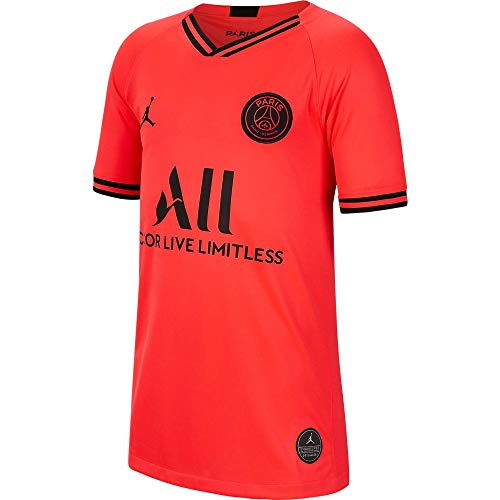 Nike Youth Paris Saint-Germain PSG x Jordan 2019/20 Away Soccer Jersey - Infrared (Small)
