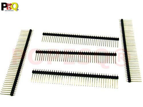 POPESQ® 5 Stk. x Stiftleiste 2.54mm 40 polig Ausschneidbar Gerade Lang #A2704