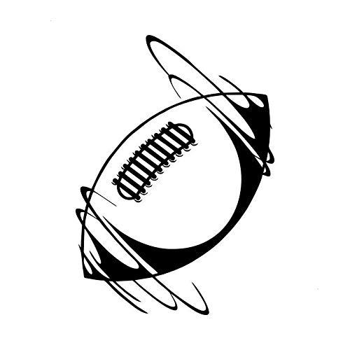 ZHYCT 2 Stück, Auto Aufkleber Spinning Rugby Silber Lustige Auto Autoaufkleber Vinyl Auto Kunst Graffiti Auto Fenster Aufkleber Aufkleber für Laptop, Motorrad, Ipad
