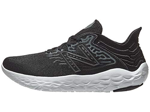 New Balance womens Fresh Foam Beacon V3 Running Shoe, Black/White, 7.5 Wide US