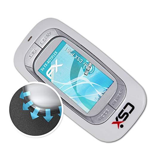 atFoliX Schutzfolie kompatibel mit CSX P381 Folie, ultraklare und Flexible FX Displayschutzfolie (3X)