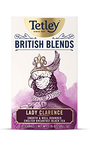 Tetley British Blends, Lady Clarence, Smooth & Well Rounded Black Tea, 20 Count Tea Bags