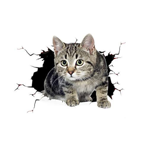 GYFSLG 3D Stereo wasserdichte Aufkleber Nette Haustier Katze Auto Aufkleber DIY Dekorative Applikation Für Auto Motorrad Skateboard Kunst Zu Schaffen