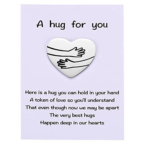 MIXJOY a Tinny Little Pocket Hug Token with Poem Card for Isolation Gift, Miss You, Thinking of You, Social Distance Gift for Family and Friends Lockdown