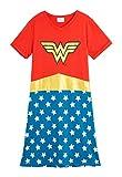 DC Comics Nachthemd Damen, Wonder Woman Schlafanzug Damen, 100% Baumwolle Lang Nachtkleid Teenager Mädchen, Schlafshirt für Frauen, Geschenke für Frauen (M)