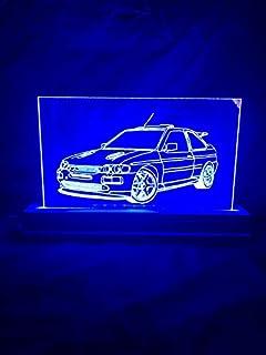 Lampada Ford Escort Cosworth (Blu Rosso Verde Giallo Bianco, Art Deco)