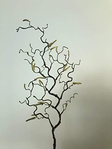 mucplants Haselnusszweig Korkenzieherhasel 70cm künstlicher Zweig Korkenzieherzweig Hasel künstlicher AST Kunstast Kunstzweig