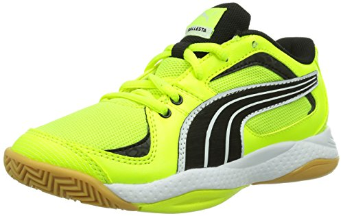 Puma Ballesta Jr, Unisex-Kinder Hallenschuhe, Gelb (fluro yellow-black-white 09), 28 EU (10 Kinder UK)