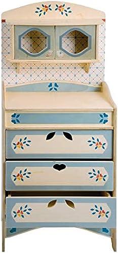 DIDA - Spielküche, Küchenm l mit Schubladen, Teil der zusammensetzbaren Küche aus Holz für Kinder, komplette H  77 cm, H  bis zur Arbeitsfl e 46cm auch einzeln verkaufür.