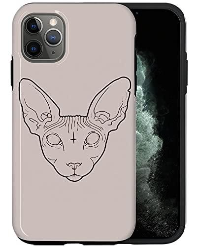JUSPHY - Carcasa para iPhone 12 Pro Max, diseño de gato cruzado PIN443, diseño de moda, diseño de moda, accesorios de teléfono
